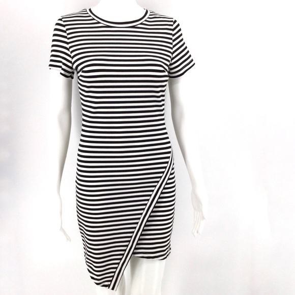 Tea n Cup Dresses & Skirts - TEA N CUP Dress S Black White Stripes Asymmetrical